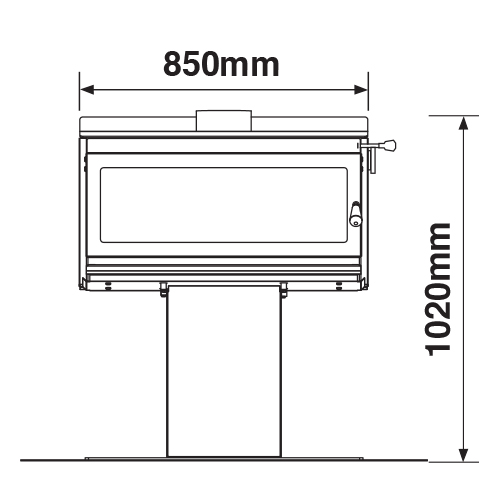 Outdoor 850P Dimensions