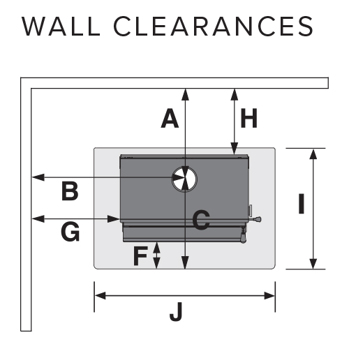 outdoor fire wall clearances